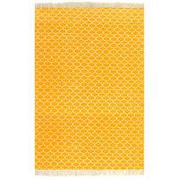 vidaXL Kilim paklājs ar rakstu, 120x180 cm, kokvilna, dzeltens