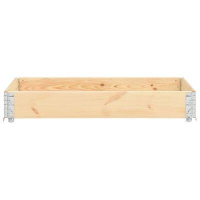 vidaXL puķu kaste, 50x150 cm, priedes masīvkoks