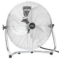 vidaXL grīdas ventilators ar 3 ātrumiem, 55 cm, 100 W, hromēts