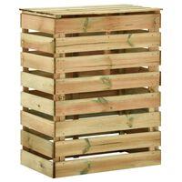vidaXL dārza komposta kaste, 80x50x100 cm, impregnēts priedes koks