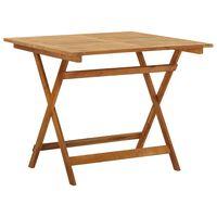 vidaXL saliekams dārza galds, 90x90x75 cm, akācijas masīvkoks