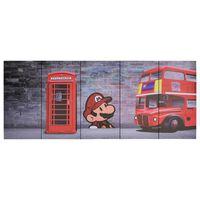 vidaXL audekla sienas gleznu komplekts, Londona, krāsaina, 200x80 cm