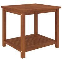 vidaXL galdiņš, akācijas masīvkoks, 45x45x45 cm