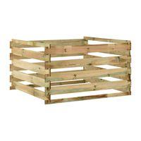 vidaXL dārza komposta kaste, 120x120x70 cm, impregnēts priedes koks