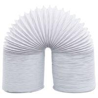vidaXL izplūdes gaisa vads, PVC, 6 m, 10 cm