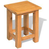 vidaXL galdiņš, 27x24x37 cm, ozola masīvkoks