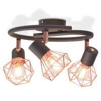vidaXL griestu lampa ar 3 LED kvēlspuldzēm, 12 W