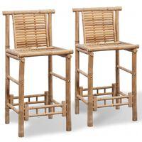 vidaXL bāra krēsli, 2 gab., bambuss