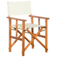 vidaXL režisora krēsls, akācijas masīvkoks