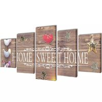 "Modulārā Foto Glezna ""Home Sweet Home"" 100 x 50 cm"