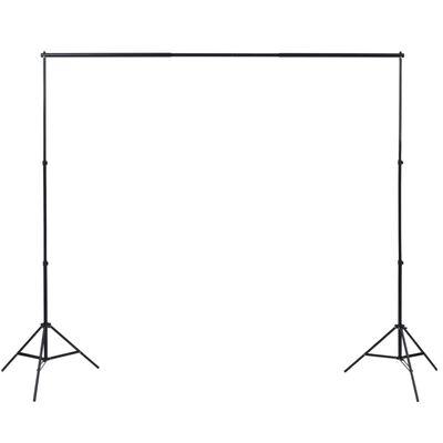 vidaXL fotostudijas fonu komplekts, 3 gab., regulējams rāmis, 3x5 m