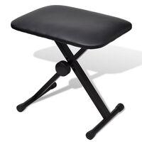 vidaXL klavieru krēsls, regulējams, saliekams