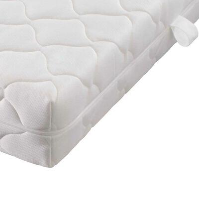 vidaXL matracis ar mazgājamu pārvalku, 200 x 140 x 17 cm