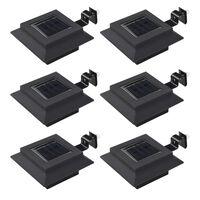 vidaXL kvadrāta formas āra solārās lampas, 6 gab., 12 cm, LED, melna