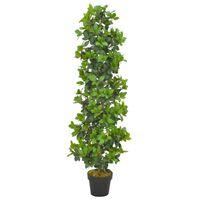 vidaXL mākslīgais augs, lauru koks ar podiņu, zaļš, 150 cm