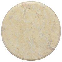 vidaXL galda virsma, Ø40x2,5 cm, krēmkrāsas marmors