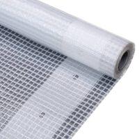 vidaXL brezenta pārklājs, smalki austs, 260 g/m² 3x3 m, balts