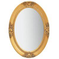 vidaXL baroka stila sienas spogulis, 50x70 cm, zelta krāsā