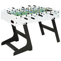 vidaXL futbola galds, salokāms, 121x61x80 cm, balts
