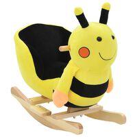 vidaXL bērnu šūpuļkrēsls ar atzveltni, 60x32x57 cm, kamene, dzeltens