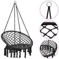 vidaXL piekarams šūpuļkrēsls, 80 cm, antracītpelēks