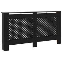 vidaXL radiatora pārsegs, melns, 152x19x81 cm, MDF