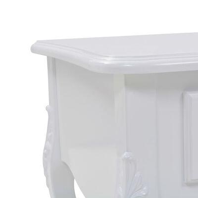 vidaXL kafijas galdiņš, 100x50x46 cm, balts