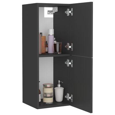 vidaXL vannasistabas skapītis, pelēks, 30x30x80 cm, skaidu plāksne