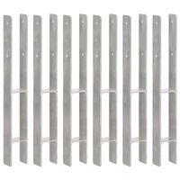 vidaXL žogu stiprinājumi, 6 gab., sudraba krāsa, 7x6x60 cm, tērauds