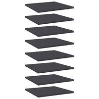 vidaXL plauktu dēļi, 8 gab., pelēki, 40x40x1,5 cm, skaidu plāksne