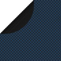 vidaXL baseina pārklājs, solārs, peldošs, 250 cm, melns un zils PE