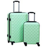 vidaXL cieto koferu komplekts, 2 gab., ABS, piparmētru zaļi