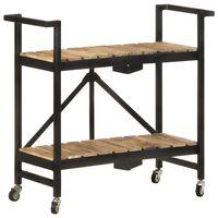 vidaXL virtuves ratiņi, 87x36x81 cm, mango masīvkoks
