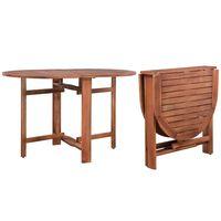 vidaXL dārza galds, 120x70x74 cm, akācijas masīvkoks