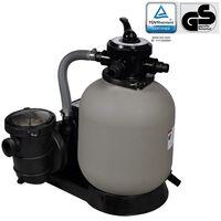 vidaXL baseina sūknis ar smilšu filtru, 600 W, 17000 l/h