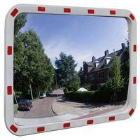 Izliekts satiksmes spogulis, taisnstūra, 40x80 cm, ar atstarotājiem