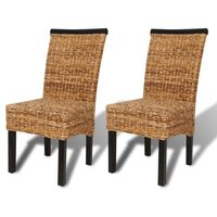 vidaXL virtuves krēsli, 2 gab., abaka un mango masīvkoks