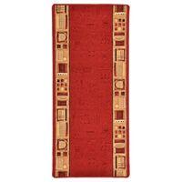 vidaXL paklāja celiņš, 67x200 cm, gēla aizmugure, sarkans