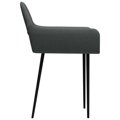 vidaXL virtuves krēsli, 4 gab., tumši pelēks audums