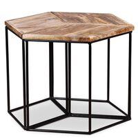 vidaXL kafijas galdiņš, 48x48x40 cm, mango masīvkoks