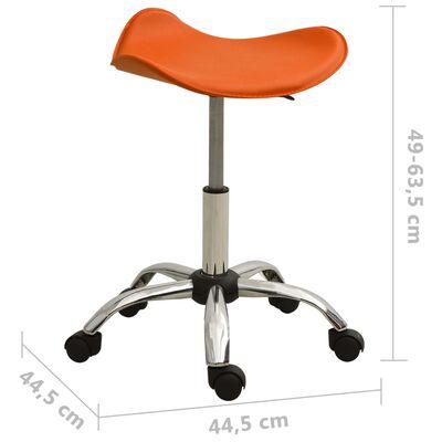 vidaXL salona krēsls, oranža mākslīgā āda