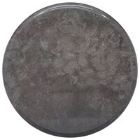 vidaXL galda virsma, Ø40x2,5 cm, melns marmors
