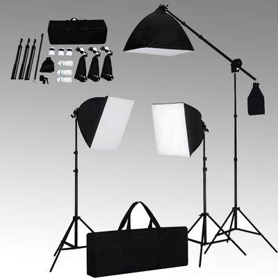 vidaXL fotostudijas komplekts – gaismas izkliedētāji un foni