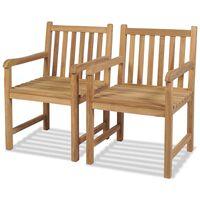 vidaXL dārza krēsli, 2 gab., masīvs tīkkoks