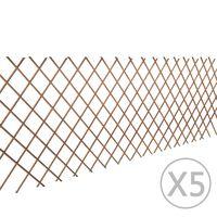 vidaXL špaleru žogs, 5 gab., 180x90 cm, vītola klūgas