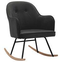 vidaXL šūpuļkrēsls, tumši pelēks samts