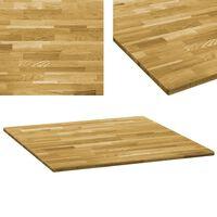 vidaXL galda virsma, 80x80 cm, 23 mm, kvadrāta forma, ozola masīvkoks