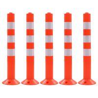 vidaXL ceļa stabiņi, 5 gab., plastmasa, 75 cm