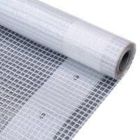 vidaXL brezenta pārklājs, smalki austs, 260 g/m² 3x6 m, balts