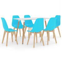 vidaXL 7-daļīgs virtuves mēbeļu komplekts, zils